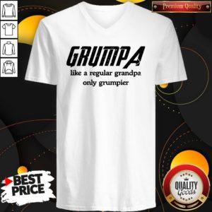 Grumpa Like A Regular Grandpa Only Grumpier V-neck