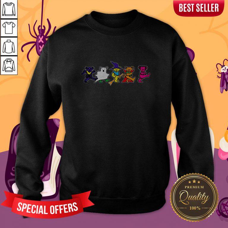 Halloween Grateful Dead Dancing Bears Tee Sweatshirt