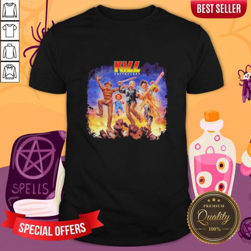 Halloween Horror Characters Kiss Destroyers Shirt