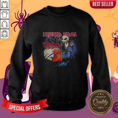 Halloween Jack Skellington I Ruined Xmas The Nightmare Of The Boogie Sweatshirt