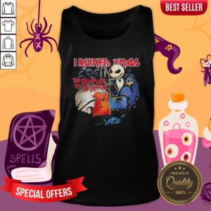 Halloween Jack Skellington I Ruined Xmas The Nightmare Of The Boogie Tank Top