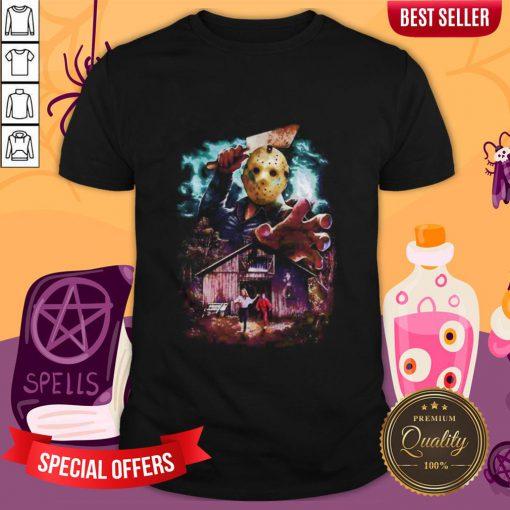 Halloween Jason Voorhees Running From Shirt