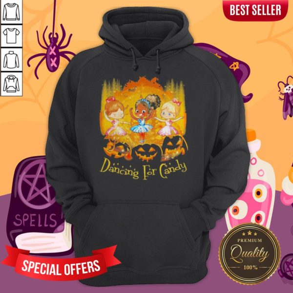 Halloween Princess Dancing For Candy Pumpkins Hoodie