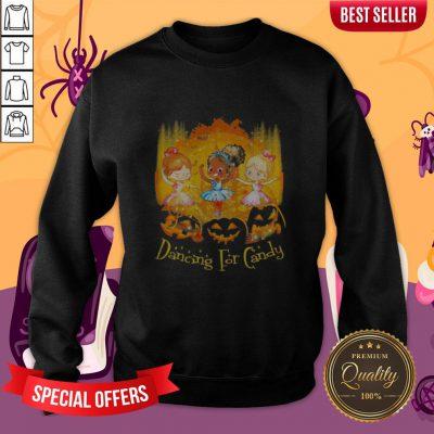 Halloween Princess Dancing For Candy Pumpkins Sweatshirt