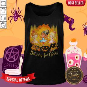 Halloween Princess Dancing For Candy Pumpkins Tank Top