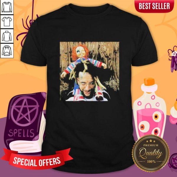Halloween Scrim With Chucky Shirt