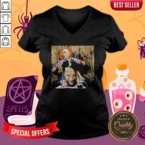 Halloween Scrim With Chucky V-neck