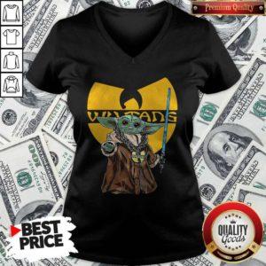 Happy Wu Tang Master Yoda V-neck