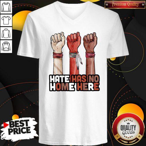 Hate Has No Home Here Native V-neck