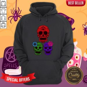 Hollow Sugar Skulls Color Day Of The Dead Hoodie
