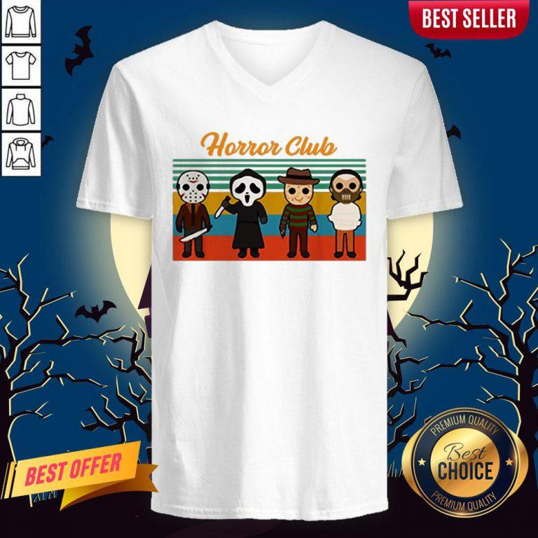Horror Club Halloween V-neck