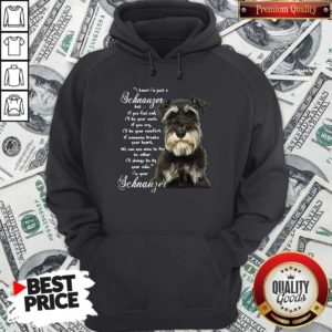 I Know I'm Just A Schnauzer But If You Feel Sad I'll Be Your Smile If You Cry Hoodie