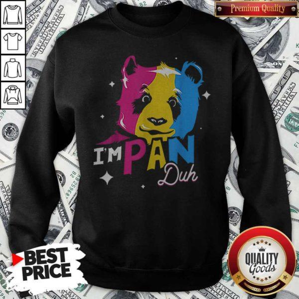 Im Pan Duh Panda Pansexual Pride Lgbt Rights Pun Sweatshirt