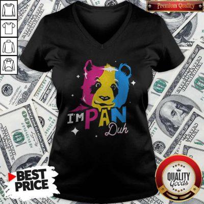 Im Pan Duh Panda Pansexual Pride Lgbt Rights Pun V-neck