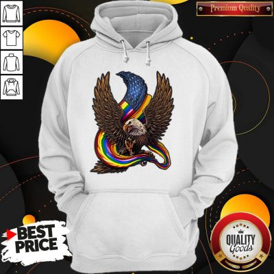 Independence Day Eagle Rainbow LGBT Hoodie