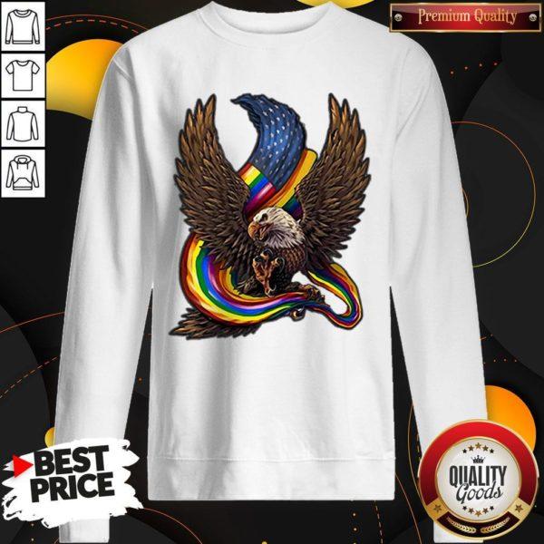 Independence Day Eagle Rainbow LGBT Sweatshirt