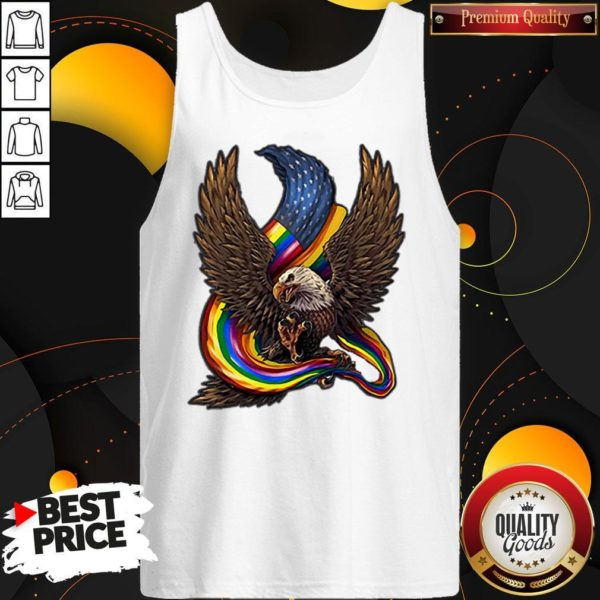 Independence Day Eagle Rainbow LGBT Tank Top