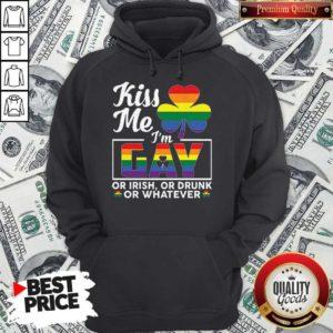 Irish LGBT Kiss Me I'm Gay Or Irish Or Drunk Or Whatever T Hoodie