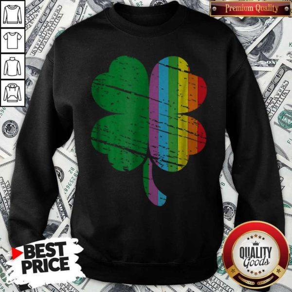 Irish Shamrock Gay LGBT St Patricks Day Pride Rainbow Sweatshirt