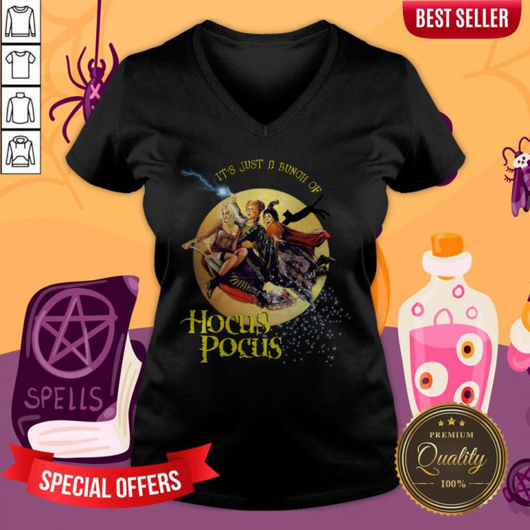 It'S Just A Bunch Of Hocus Pocus Halloween Day V-neck