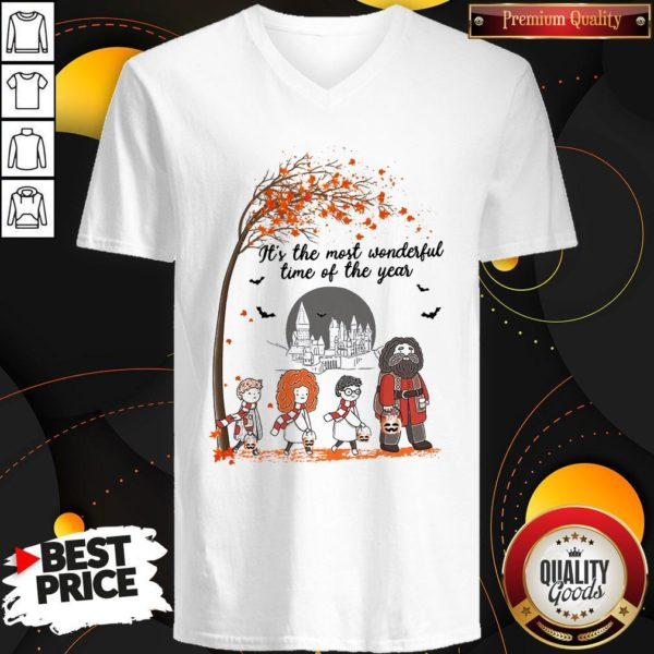 It's The Most Wonderful Time Of The Year Harry Potter Chibi V-neck