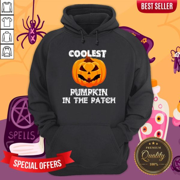 Kids Coolest Pumpkin In The Patch Halloween Womens HoodieKids Coolest Pumpkin In The Patch Halloween Womens Hoodie