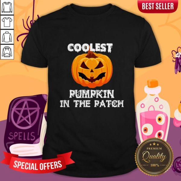 Kids Coolest Pumpkin In The Patch Halloween Womens Shirt
