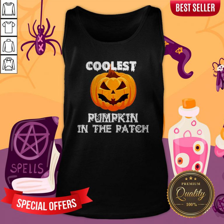 Kids Coolest Pumpkin In The Patch Halloween Womens Tank Top