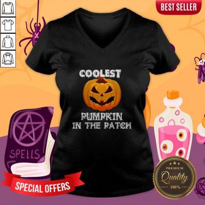 Kids Coolest Pumpkin In The Patch Halloween Womens V-neck