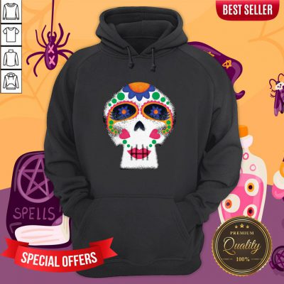 Mrs Sugar Skull Day Of The Dead Dia De Muertos Hoodie
