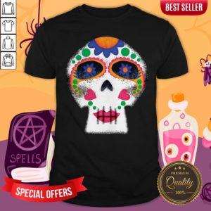 Mrs Sugar Skull Day Of The Dead Dia De Muertos Shirt
