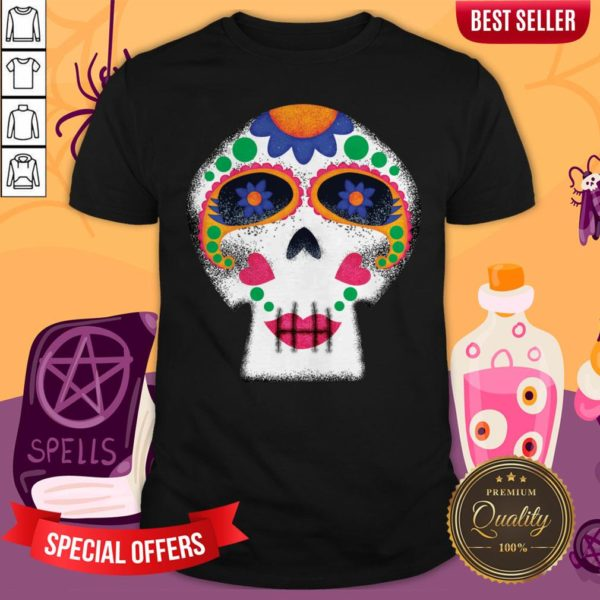 Mrs Sugar Skull Day Of The Dead Dia De Muertos Shirt