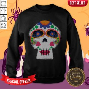 Mrs Sugar Skull Day Of The Dead Dia De Muertos Sweatshirt