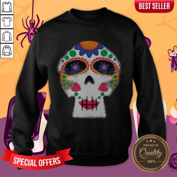 Mrs Sugar Skull Day Of The Dead Dia De Muertos Sweatshirt
