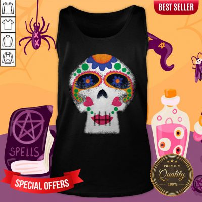 Mrs Sugar Skull Day Of The Dead Dia De Muertos Tank TopMrs Sugar Skull Day Of The Dead Dia De Muertos Tank Top