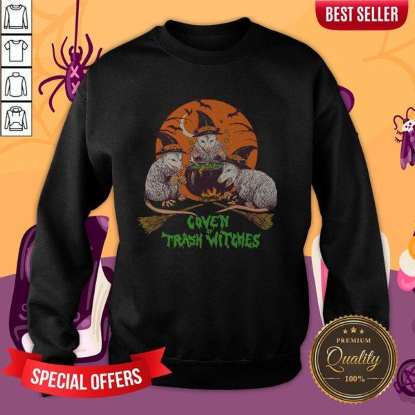 Nice Coven Of Trash Witches Halloween Sweatshirt