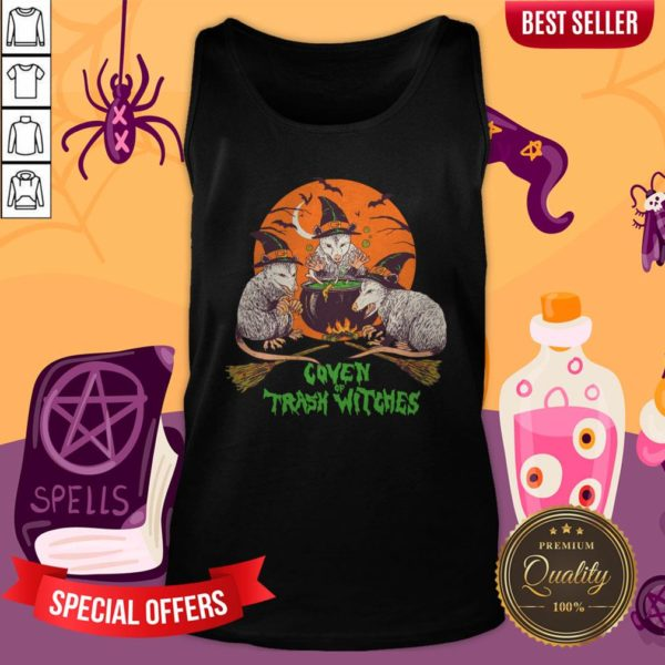 Nice Coven Of Trash Witches Halloween Tank Top