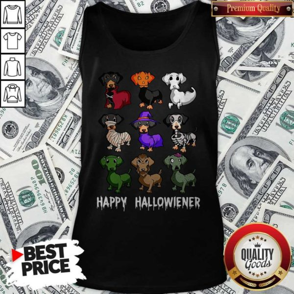 Nice Dachshund Happy Halloween Tank Top