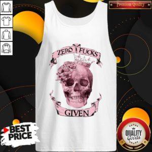 Nice Skull Queen Zero Fucks Given Tank Top