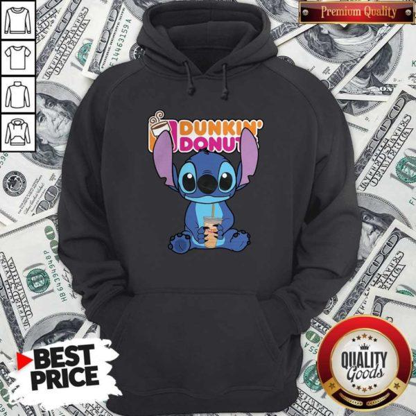 Nice Stitch Hug Dunkin Donuts Hoodie