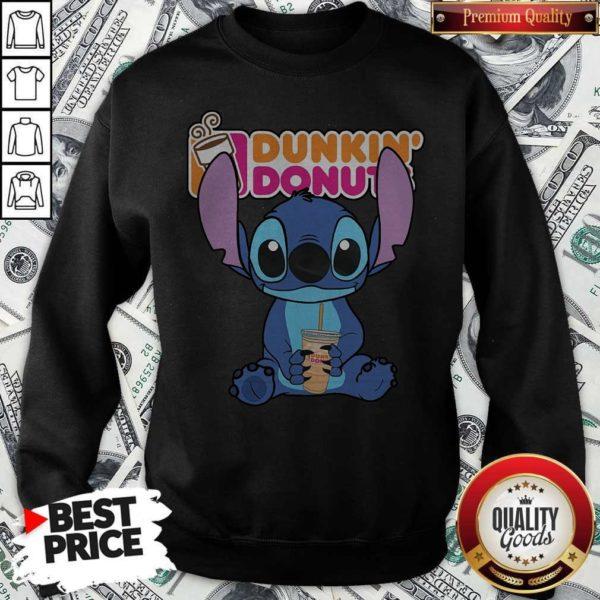 Nice Stitch Hug Dunkin Donuts Nice Stitch Hug Dunkin Donuts SweatshirtSweatshirt