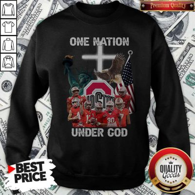 Ohio State Buckeyes One Nation Under God SweatshirtOhio State Buckeyes One Nation Under God Sweatshirt