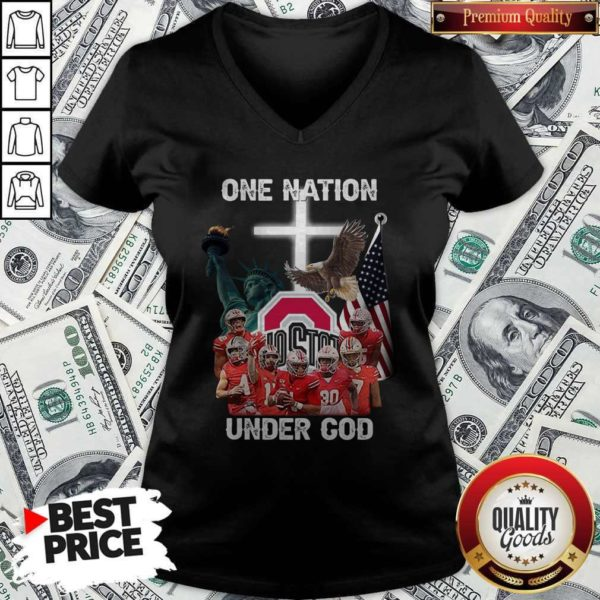 Ohio State Buckeyes One Nation Under God V-neck