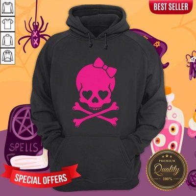 Pink Skull Cute Day Of The Dead Hoodie