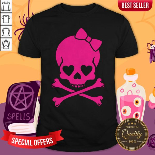 Pink Skull Cute Day Of The Dead Shirt