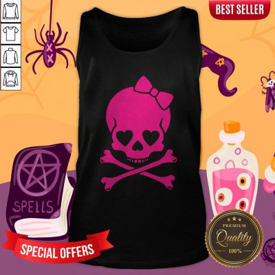 Pink Skull Cute Day Of The Dead Tank Top