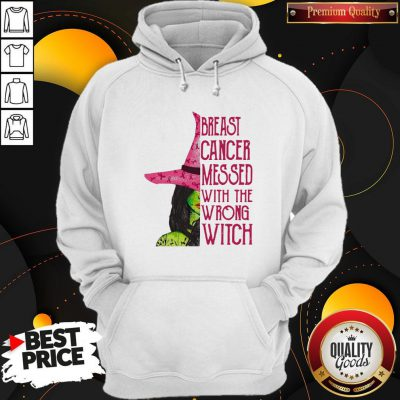 Pink Witch Breast Cancer Messed With The Wrong Witch Hoodie