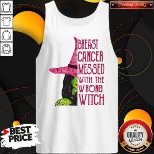 Pink Witch Breast Cancer Messed With The Wrong Witch Tank Top