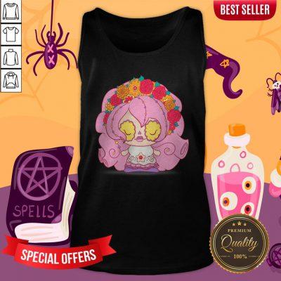 Pretty Pink Muerto Sugar Skull Day Of The Dead Tank Top