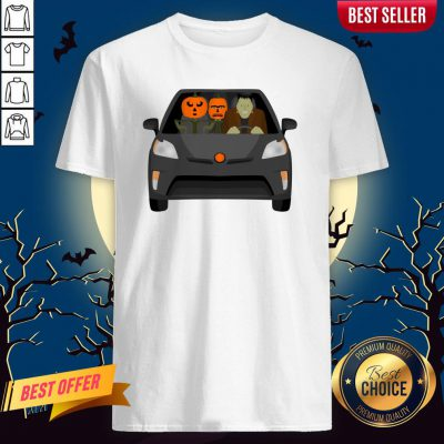 Pumpkinstein Family Drive In The Car Halloween Day Shirt